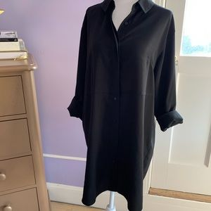 French Connection Black buttondown shirtdress US 6